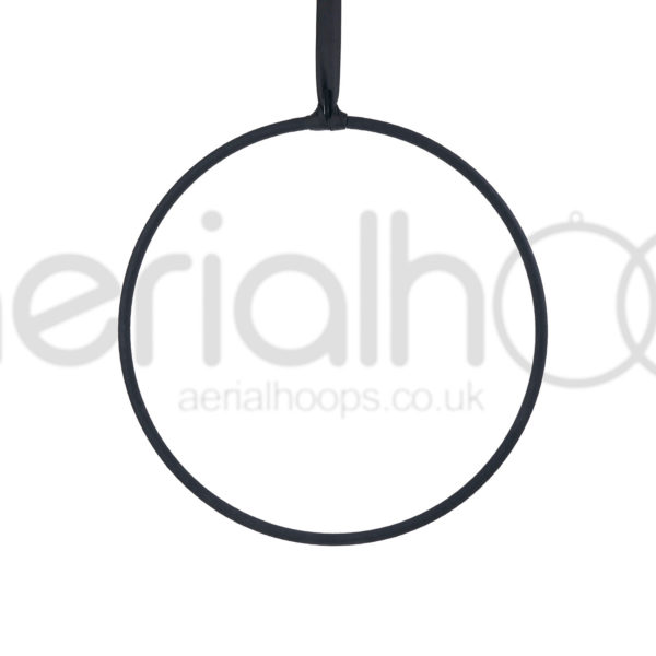 Aerial hoop lyra circus strap black