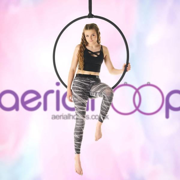 Aerial hoop lyra circus black