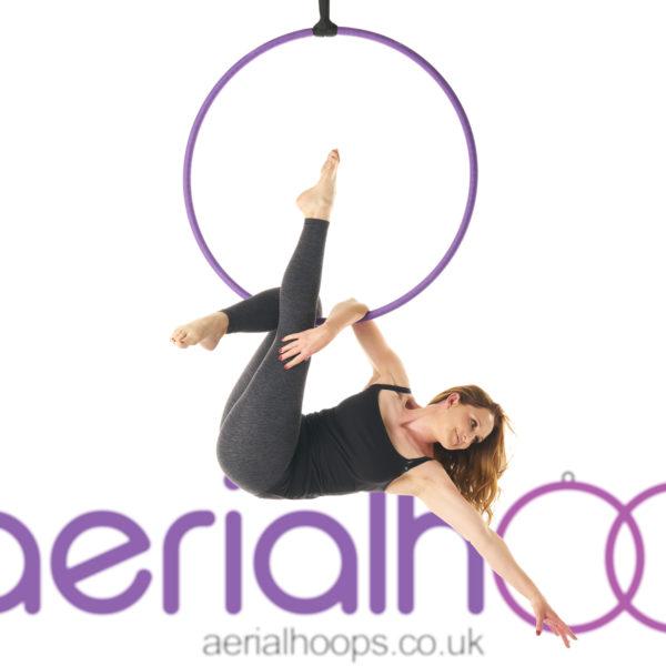 Aerial hoop lyra circus purple Martini Sit
