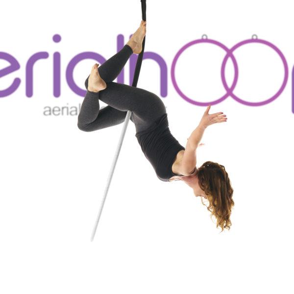 Aerial hoop lyra circus white