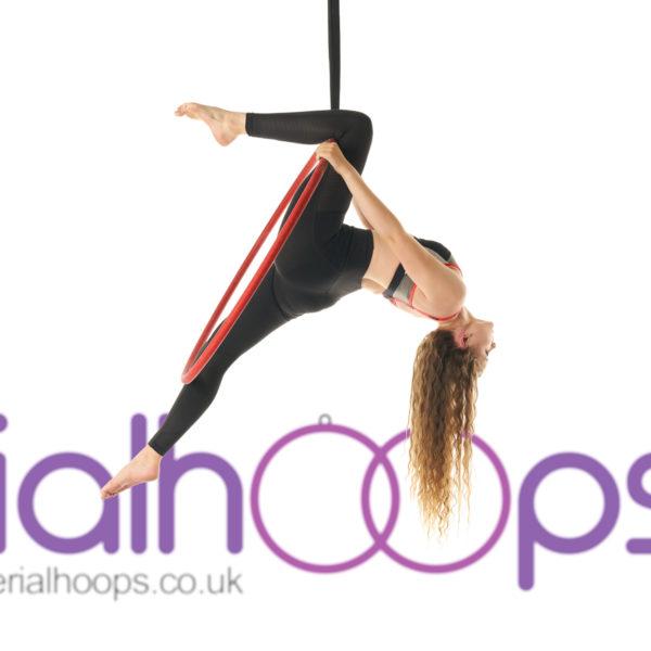 Aerial hoop lyra circus red