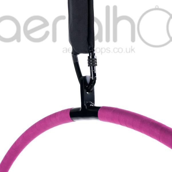 Aerial hoop lyra circus carabiner strap pink