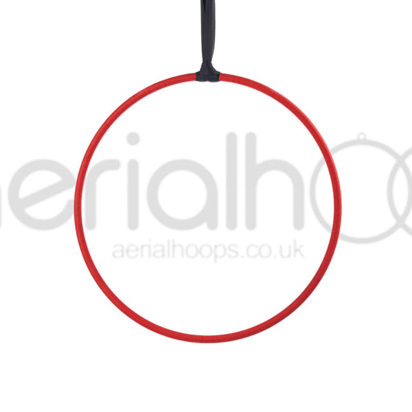Aerial hoop lyra circus strap red