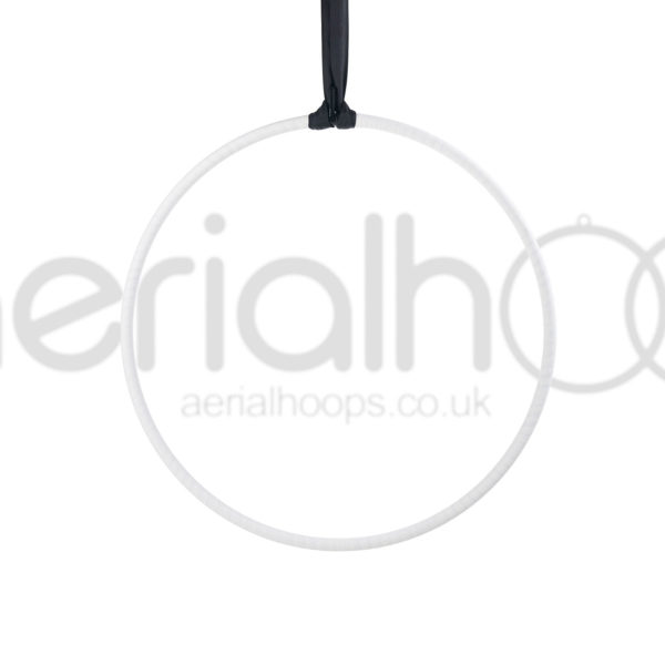 Aerial hoop lyra circus strap white