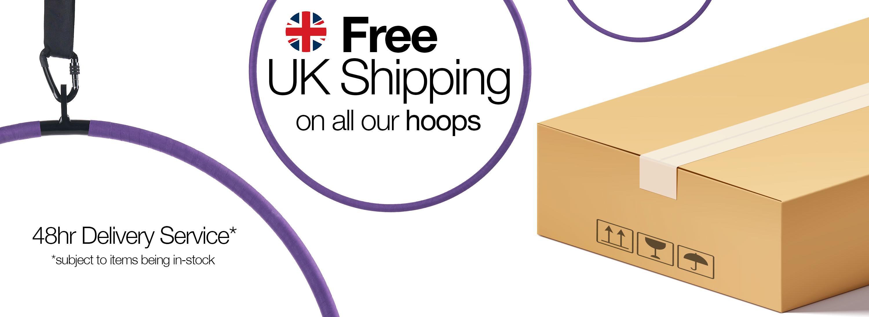 Aerial hoop lyra circus Free UK shipping