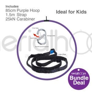 85cm aerial hoop lyra circus bundle purple