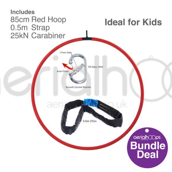85cm aerial hoop lyra circus bundle red