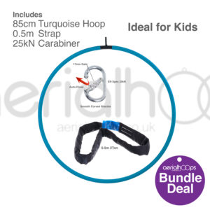 85cm aerial hoop lyra circus bundle turquoise