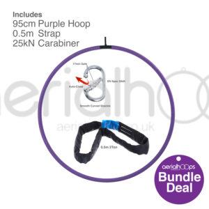95cm aerial hoop lyra circus bundle purple
