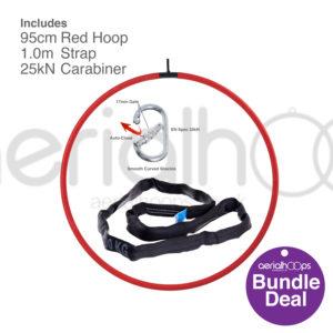 95cm aerial hoop lyra circus bundle red