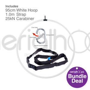 95cm aerial hoop lyra circus bundle white