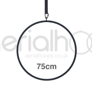75cm aerial hoop lyra circus black