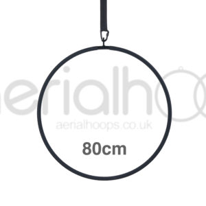 80cm aerial hoop lyra circus black