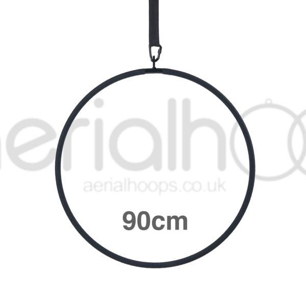 90cm aerial hoop lyra circus black