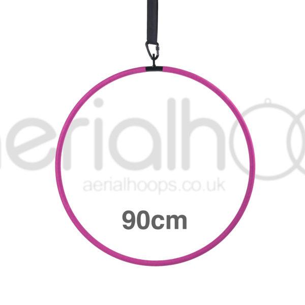 90cm aerial hoop lyra circus pink