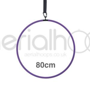 80cm aerial hoop lyra circus purple