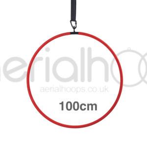 100cm aerial hoop lyra circus red