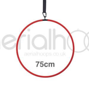 75cm aerial hoop lyra circus red