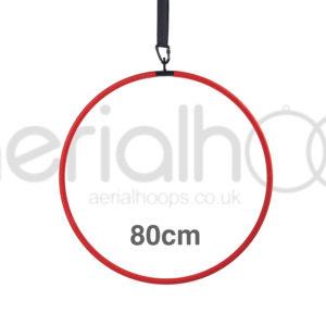 80cm aerial hoop lyra circus red