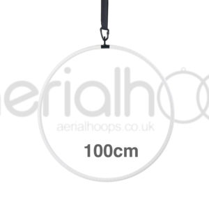100cm aerial hoop lyra circus white