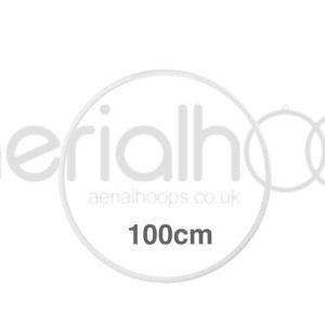 100cm zero point aerial hoop lyra circus White