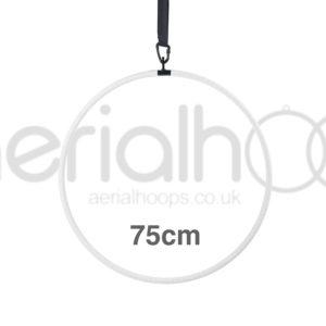 75cm aerial hoop lyra circus white