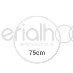 75cm zero point aerial hoop lyra circus white
