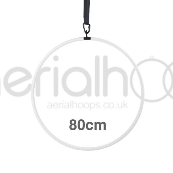 80cm aerial hoop lyra circus white