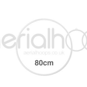 80cm zero point aerial hoop lyra circus White