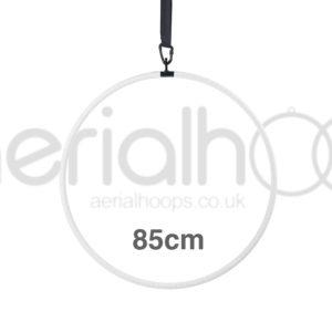 85cm aerial hoop lyra circus white