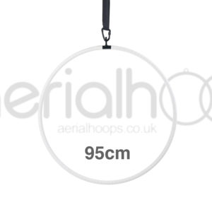 95cm aerial hoop lyra circus white