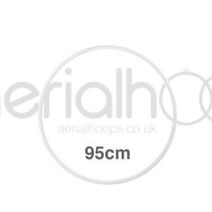 95cm zero point aerial hoop lyra circus white