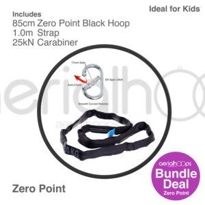 85cm zero point aerial hoop lyra circus bundle black