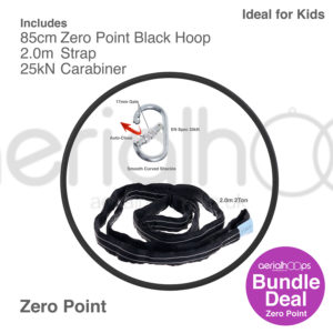 85cm zero point aerial hoop lyra circus bundle black