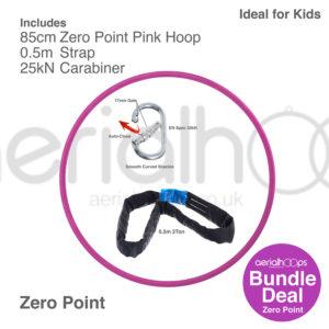85cm zero point aerial hoop lyra circus bundle pink