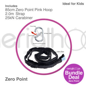 85cm zero point aerial hoop lyra circus bundle pink