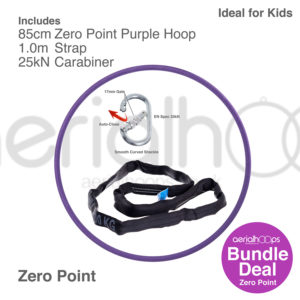 85cm zero point aerial hoop lyra circus bundle purple