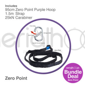95cm zero point aerial hoop lyra circus bundle purple