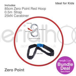 85cm zero point aerial hoop lyra circus bundle red