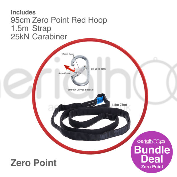 95cm zero point aerial hoop lyra circus bundle red