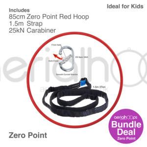 85cm zero point aerial hoop lyra circus bundle red
