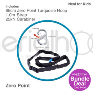 85cm zero point aerial hoop lyra circus bundle turquoise
