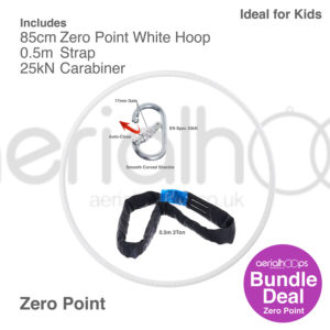85cm zero point aerial hoop lyra circus bundle white