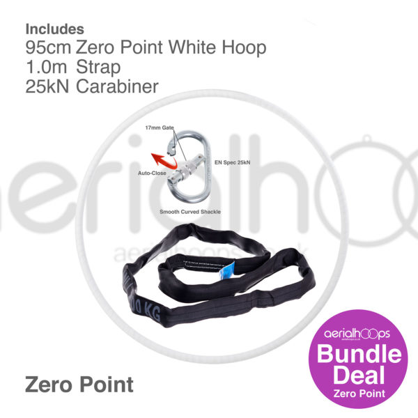 95cm zero point aerial hoop lyra circus bundle white