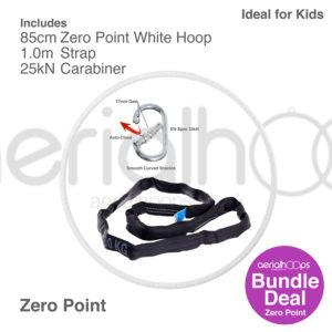 85cm zero point aerial hoop lyra circus bundle white