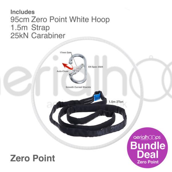 95cm zero point aerial hoop lyra circus bundle white