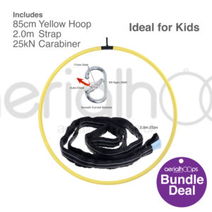 85cm aerial hoop lyra circus bundle yellow