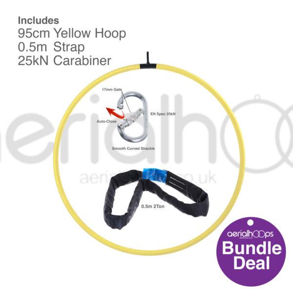 95cm aerial hoop lyra circus bundle yellow
