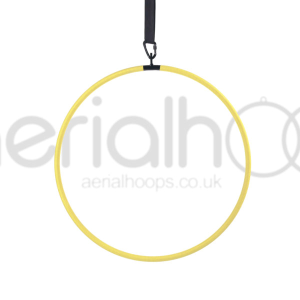 single point aerial hoop lyra circus yellow