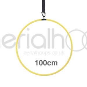 100cm aerial hoop lyra circus yellow